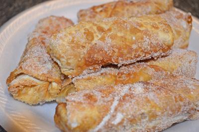 #friedapple #eggroll #dessert #appetizer