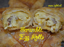 Scramble Egg Rolls #eggrolls #breakfast #scrambledeggs