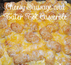 Cheesy Sausage and Tater Tot Casserole by 3GLOL.net