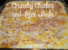 Crunchy Chicken and Rice Bake by 3GLOL.net