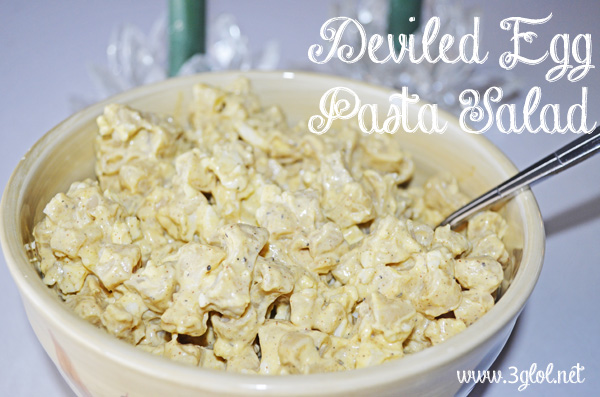 Deviled Egg Pasta Salad by 3GLOL.net