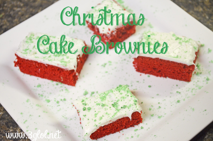 Christmas Cake Brownies by 3GLOL.net