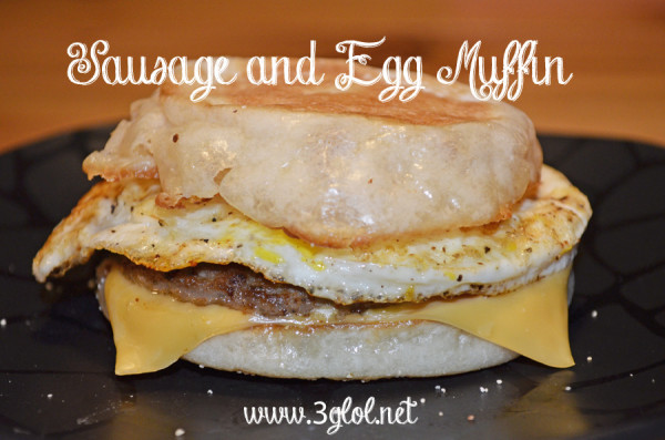 Sausage and Egg Muffin by 3GLOL.net