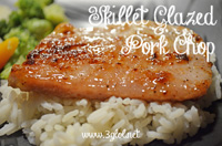 Skillet Glazed Pork Chops by 3GLOL.net