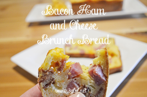 Bacon Ham and Cheese Brunch Bread by 3glol.net