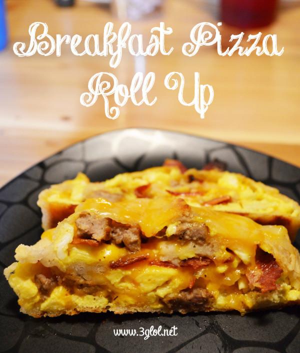 Breakfast Pizza Roll Up by 3glol.net