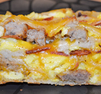 Breakfast Pizza Roll Up by 3glol.net