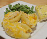 Chicken Alfredo Stuffed Shells made with Essential Oils