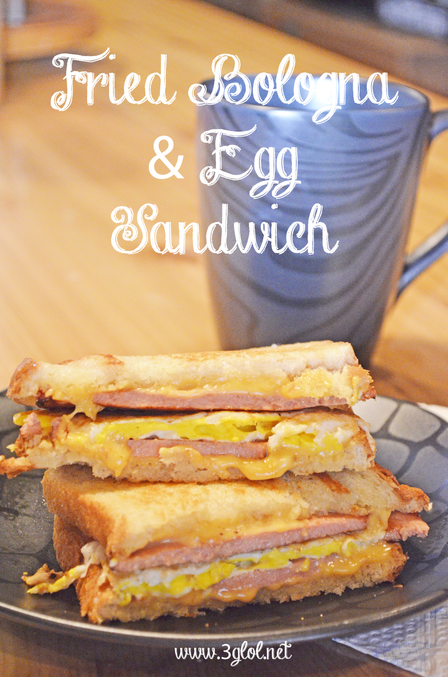 Fried Bologna and Egg Sandwich by 3glol.net