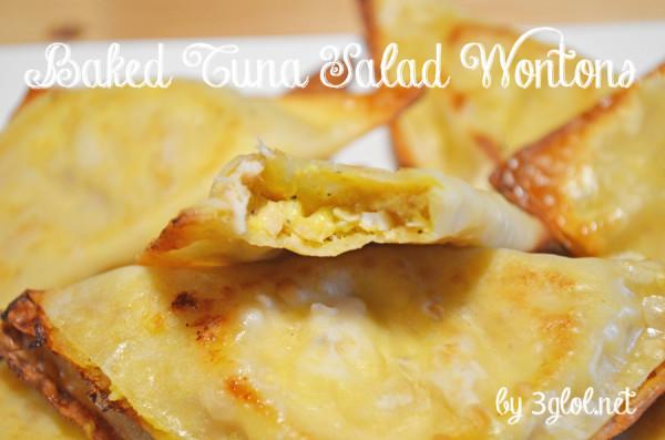 Baked Tuna Salad Wontons by 3glol.net