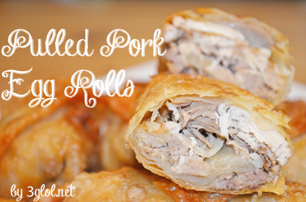 Pulled Pork Egg Rolls by 3glol.net