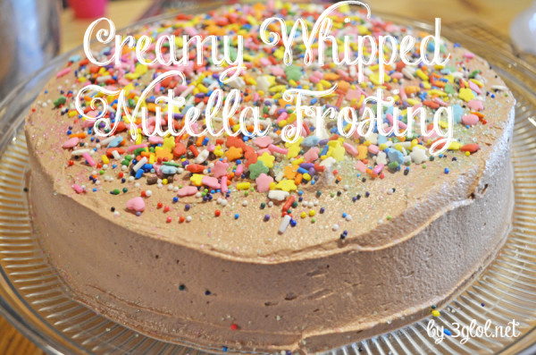 Creamy Whipped Nutella Frosting by 3glol.net