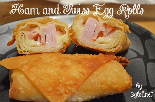 Ham and Swiss Egg Rolls by 3glol.net