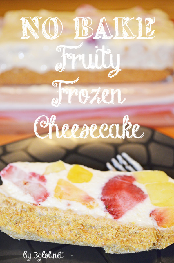 NO BAKE Fruity Frozen Cheesecake by 3glol.net
