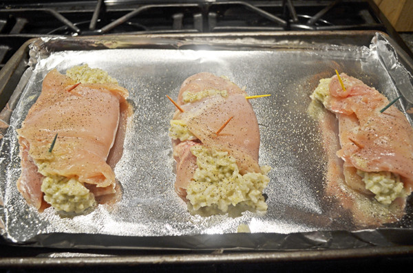 Rice and Broccoli Stuffed Chicken by 3glol.net