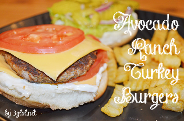 Avocado Ranch Turkey Burgers by 3glol.net