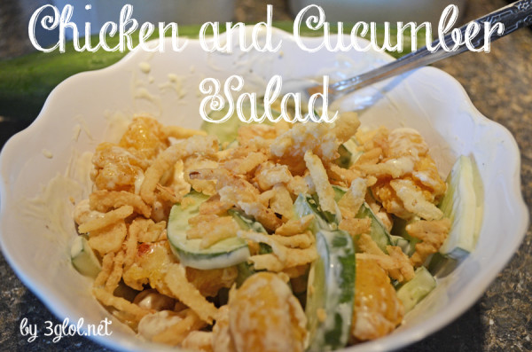 Chicken and Cucumber Salad by 3glol.net
