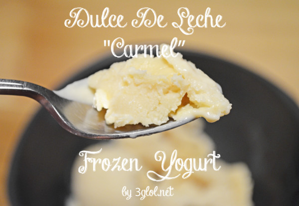 Dulce De Leche Frozen Yogurt by 3glol.net