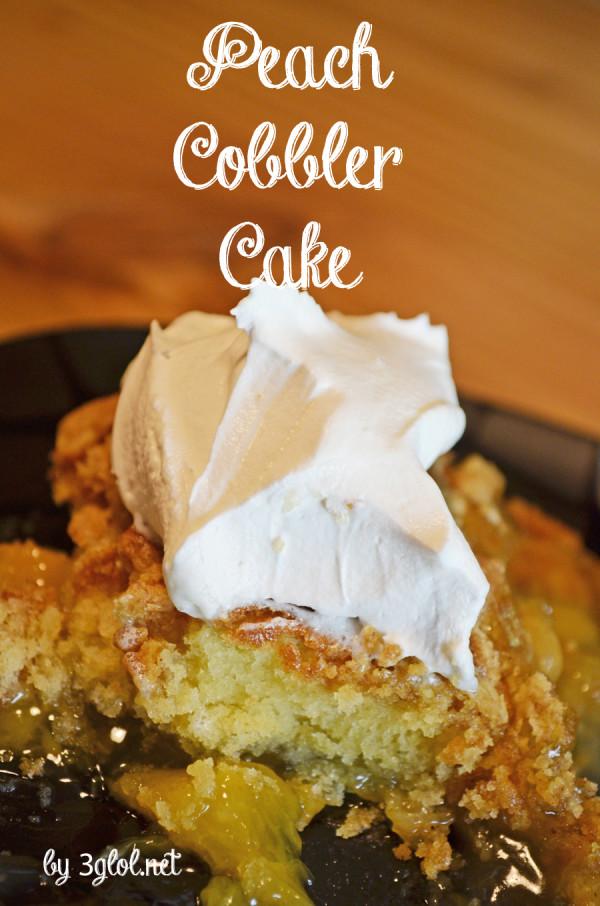 Peach Cobbler Cake by 3glol.net