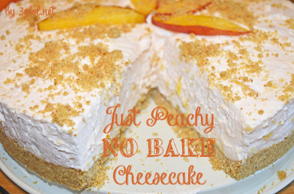 Just Peachy NO BAKE Cheesecake by 3glol.net