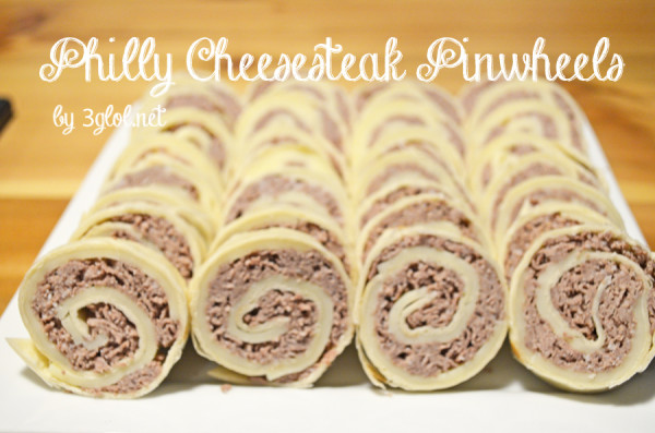 Philly Cheesesteak Pinwheels by 3glol.net
