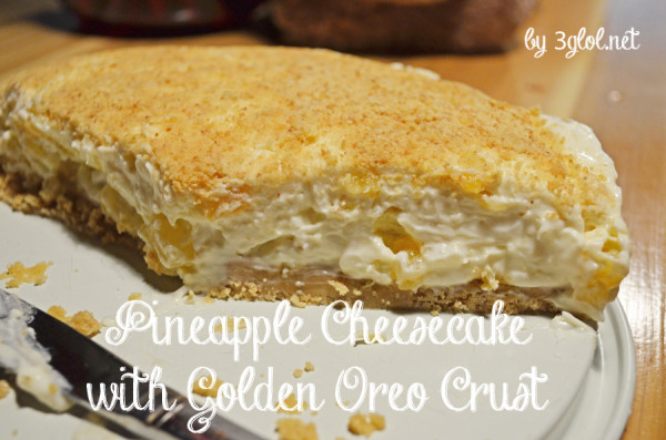 Pineapple Cheesecake with Golden Oreo Crust by 3glol.net