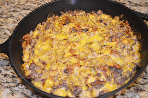 Bacon Cheeseburger Tot Skillet